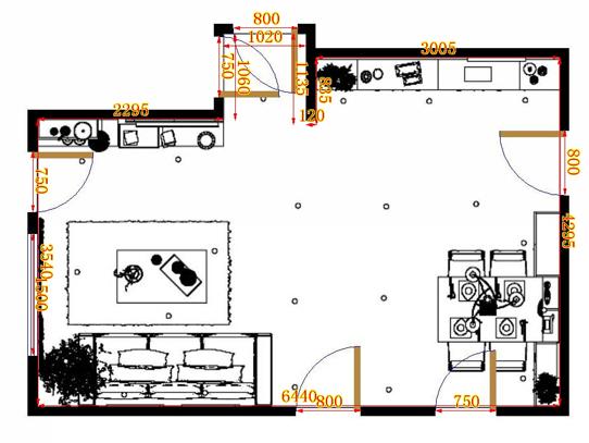 平面布置图乐维斯系列客餐厅G9372