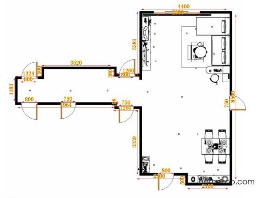 平面布置图格瑞丝系列客餐厅G9376