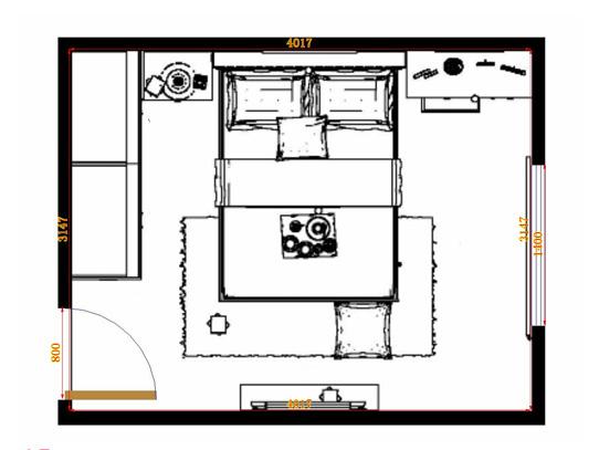 平面布置图贝斯特系列卧房A11281