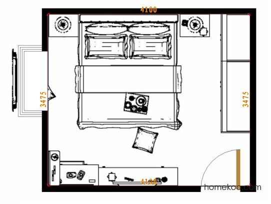 平面布置图乐维斯系列卧房A11300