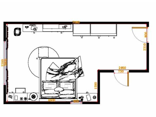 平面布置图柏俪兹系列卧房A11307