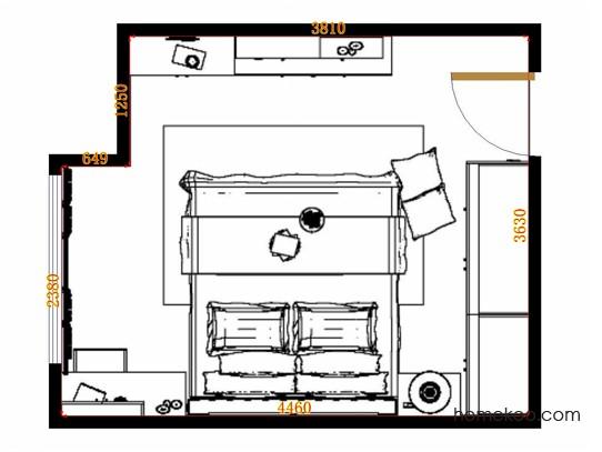 平面布置图贝斯特系列卧房A11316