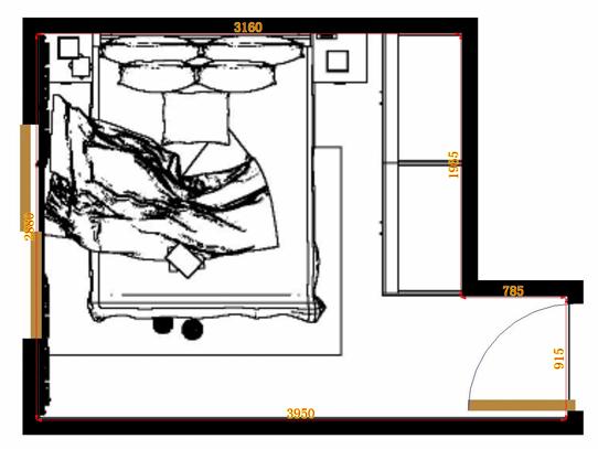 平面布置图柏俪兹系列卧房A11317