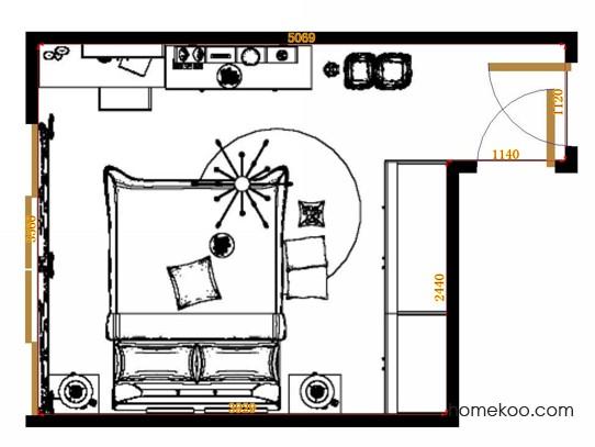 平面布置图贝斯特系列卧房A11320