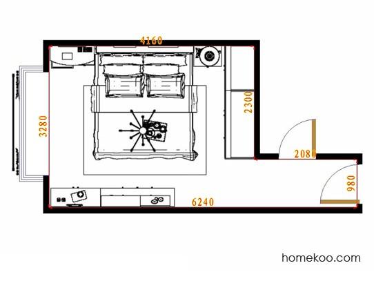 平面布置图德丽卡系列卧房A11322