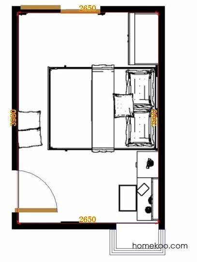 平面布置图乐维斯系列卧房A11321