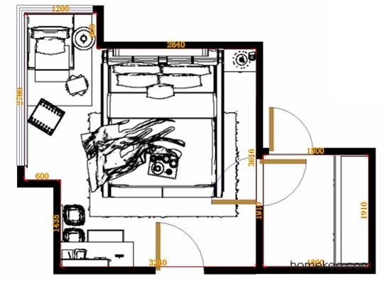 平面布置图贝斯特系列卧房A11341