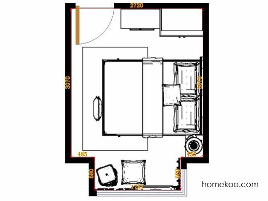 平面布置图柏俪兹系列卧房A11342