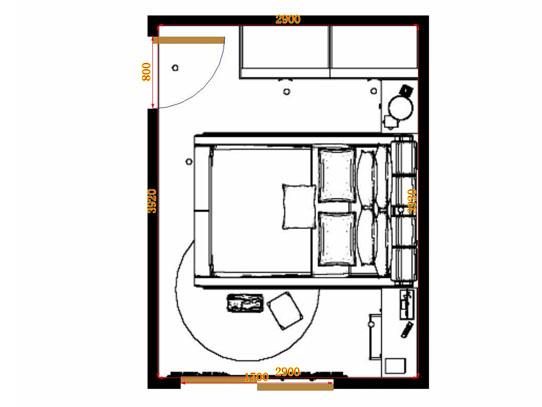 平面布置图乐维斯系列卧房A11352