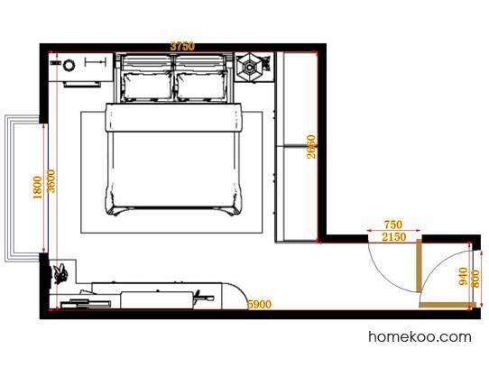 平面布置图乐维斯系列卧房A11353