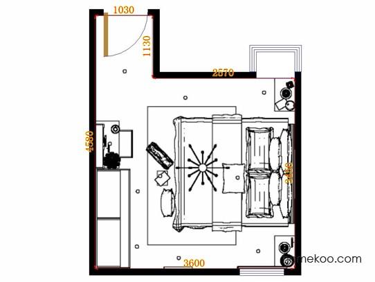 平面布置图柏俪兹系列卧房A11367