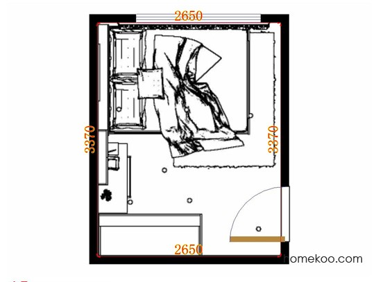 平面布置图柏俪兹系列卧房A11374