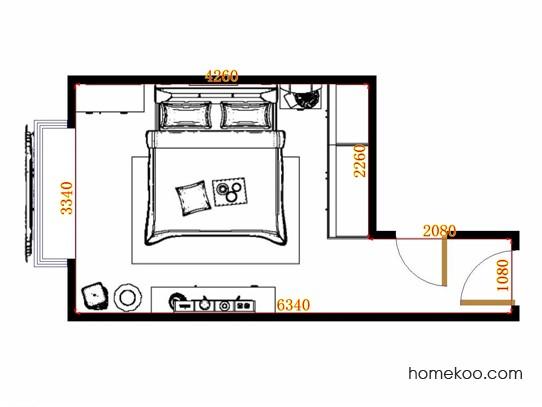 平面布置图贝斯特系列卧房A11376
