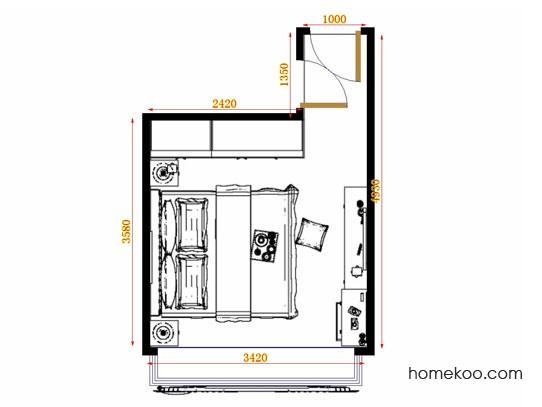 平面布置图斯玛特系列卧房A11379