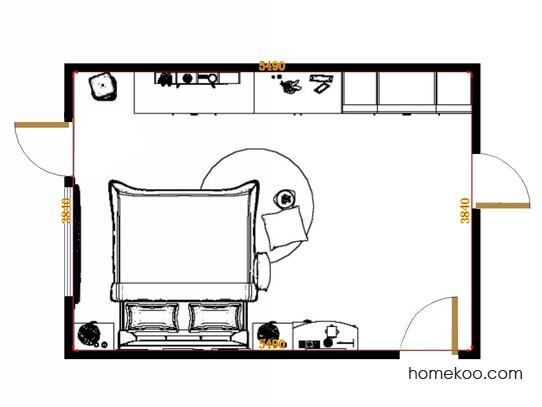 平面布置图乐维斯系列卧房A11389