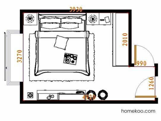 平面布置图斯玛特系列卧房A11407