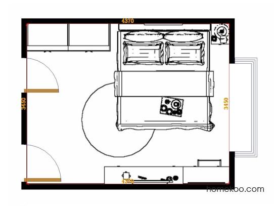 平面布置图乐维斯系列卧房A11416