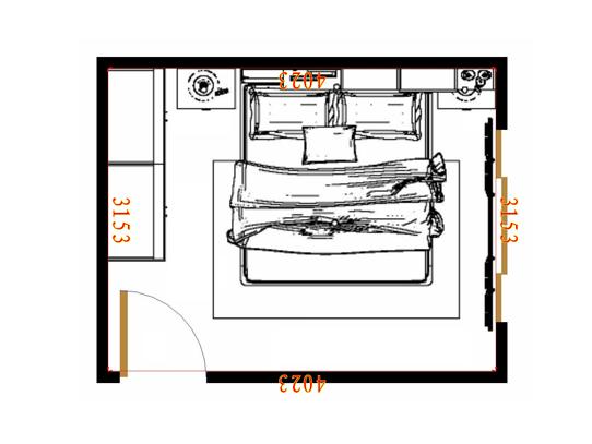 平面布置图德丽卡系列卧房A11417