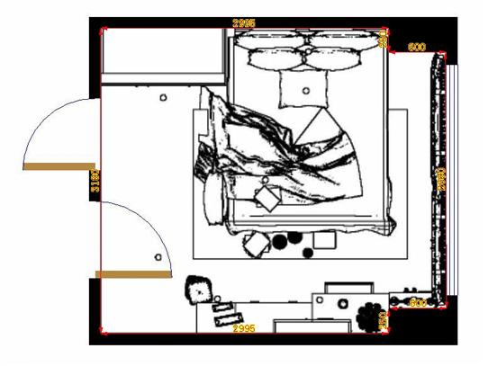 平面布置图柏俪兹系列卧房A11420