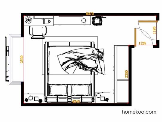 平面布置图贝斯特系列卧房A11428