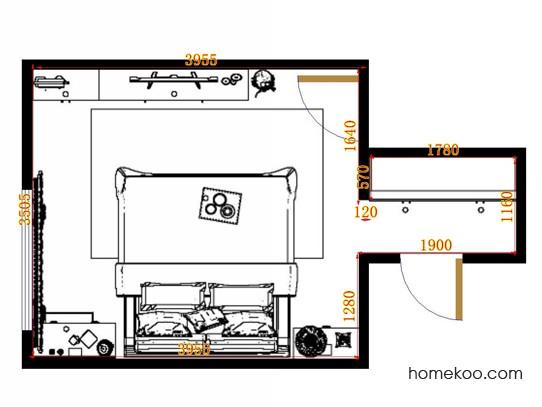 平面布置图贝斯特系列卧房A11432