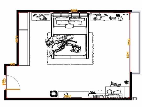 平面布置图乐维斯系列卧房A11435