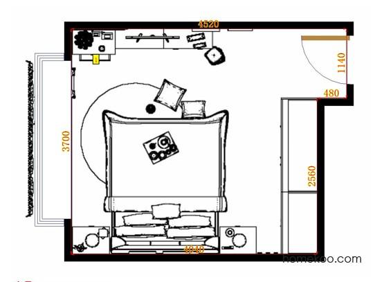 平面布置图斯玛特系列卧房A11456