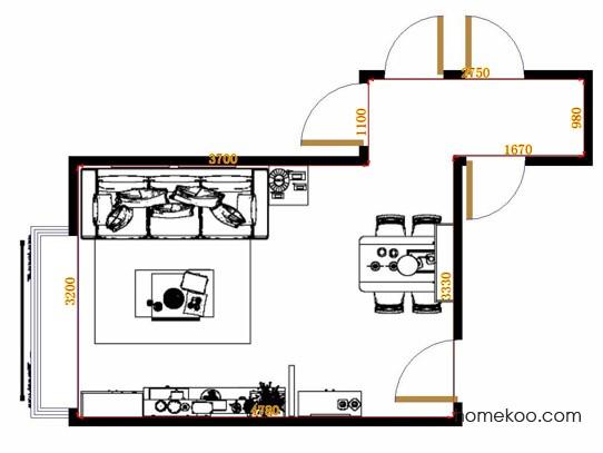 平面布置图斯玛特系列客餐厅G9453