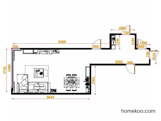 平面布置图乐维斯系列客餐厅G9474