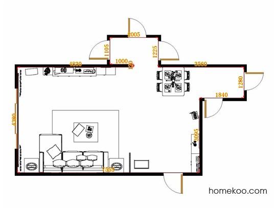 平面布置图斯玛特系列客餐厅G10530