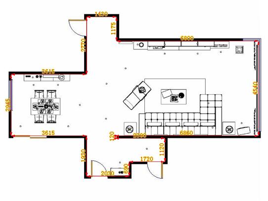 平面布置图格瑞丝系列客餐厅G10536