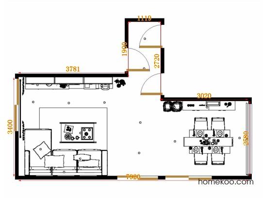 平面布置图柏俪兹系列客餐厅G10541