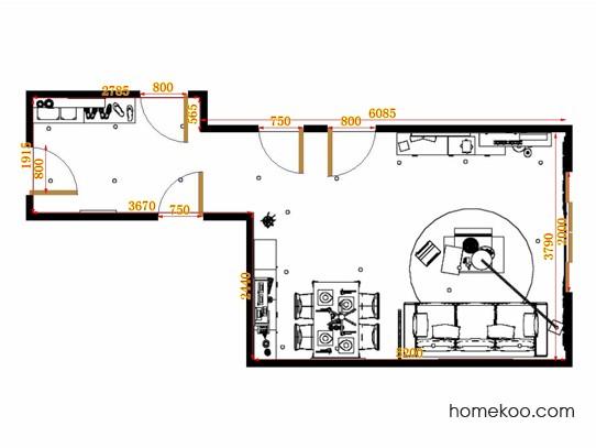 平面布置图斯玛特系列客餐厅G10547
