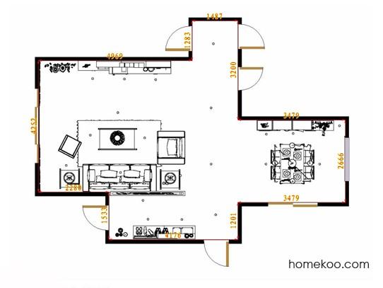 平面布置图贝斯特系列客餐厅G10549