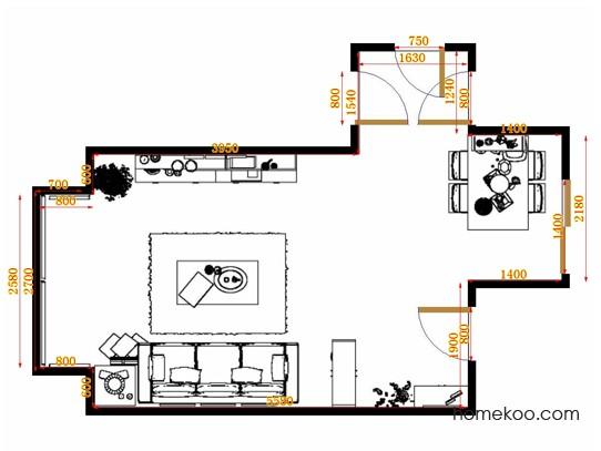 平面布置图贝斯特系列客餐厅G10566
