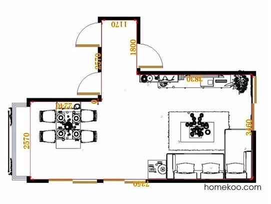 平面布置图贝斯特系列客餐厅G10603