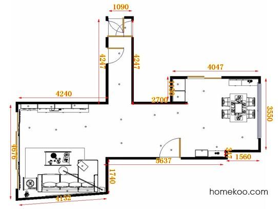 平面布置图斯玛特系列客餐厅G10609