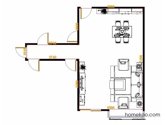 平面布置图贝斯特系列客餐厅G10633