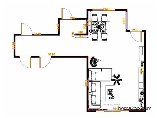 平面布置图德丽卡系列客餐厅G10636