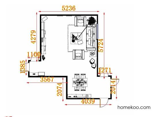 平面布置图贝斯特系列客餐厅G10638