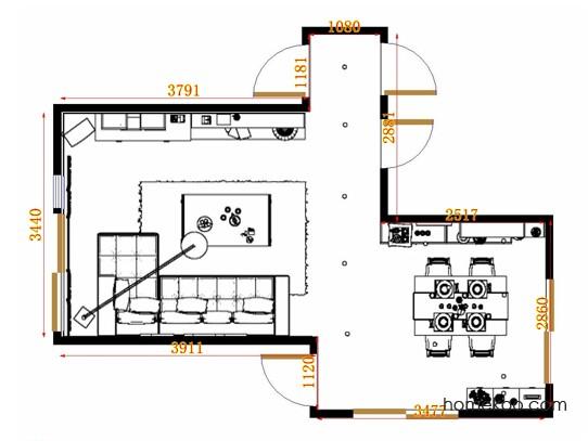 平面布置图乐维斯系列客餐厅G10640