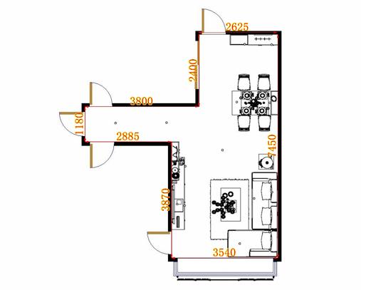 平面布置图贝斯特系列客餐厅G10654