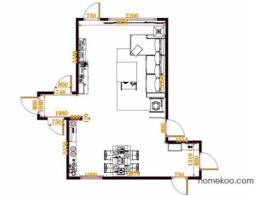 平面布置图德丽卡系列客餐厅G10672