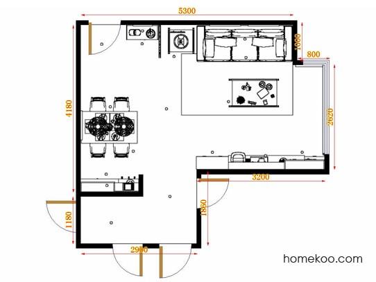 平面布置图斯玛特系列客餐厅G10700