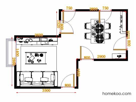 平面布置图贝斯特系列客餐厅G10723