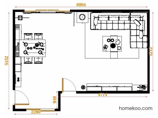 平面布置图德丽卡系列客餐厅G10767