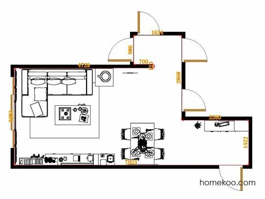 平面布置图斯玛特系列客餐厅G10769