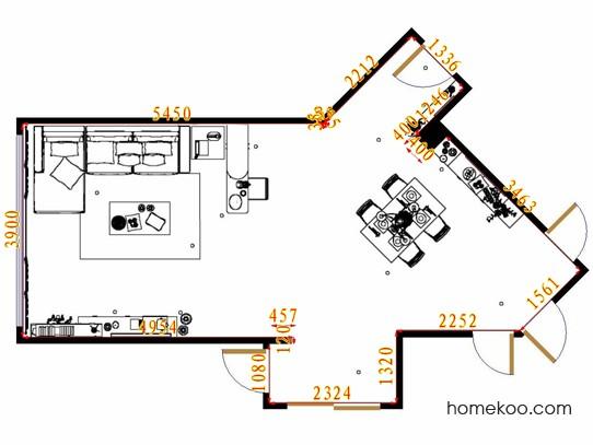 平面布置图斯玛特系列客餐厅G10783