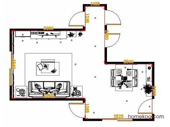 平面布置图斯玛特系列客餐厅G10793