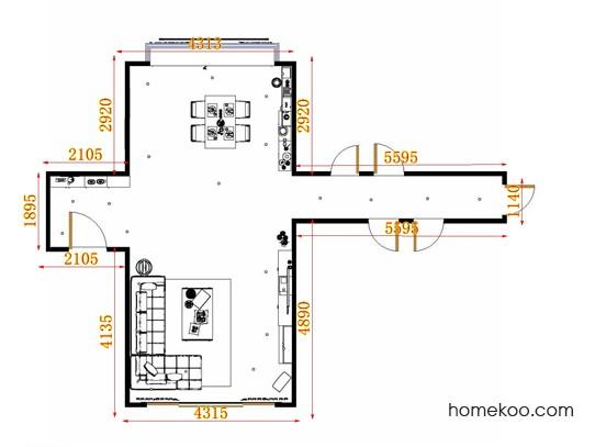 平面布置图贝斯特系列客餐厅G10803